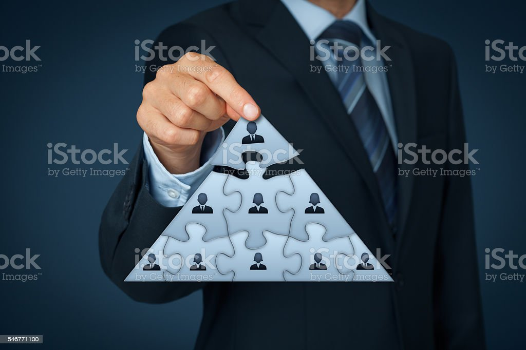 Leader and CEO stock photo