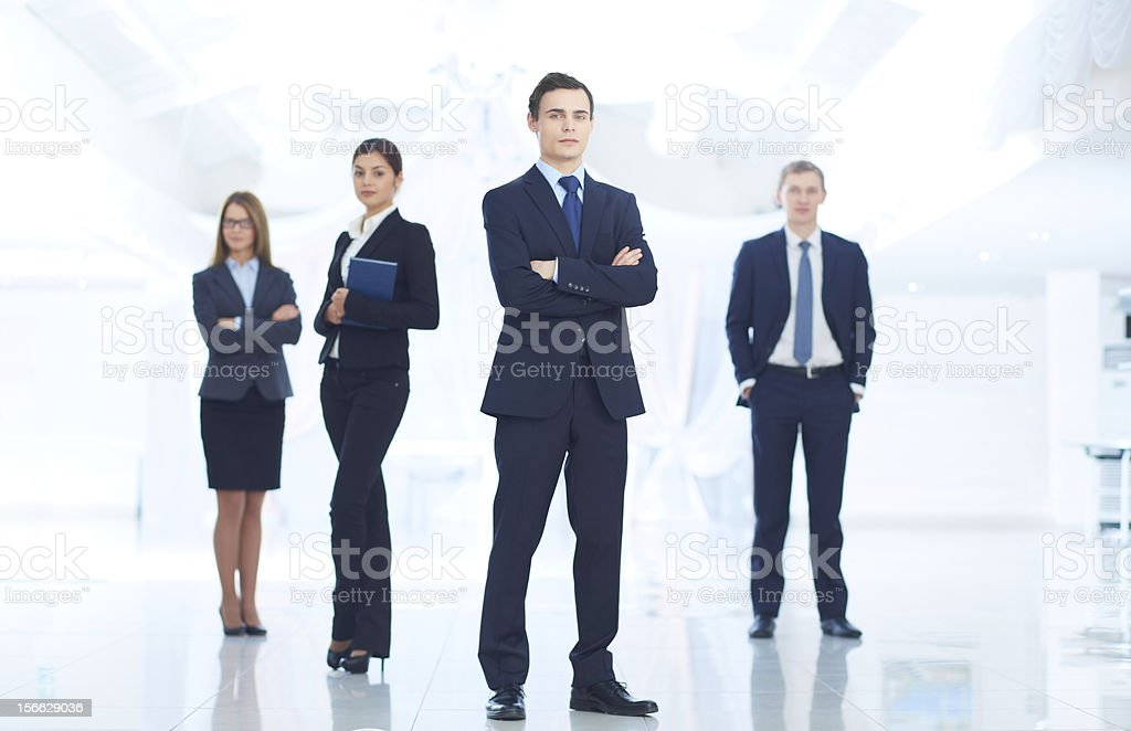 Leader and team royalty-free stock photo