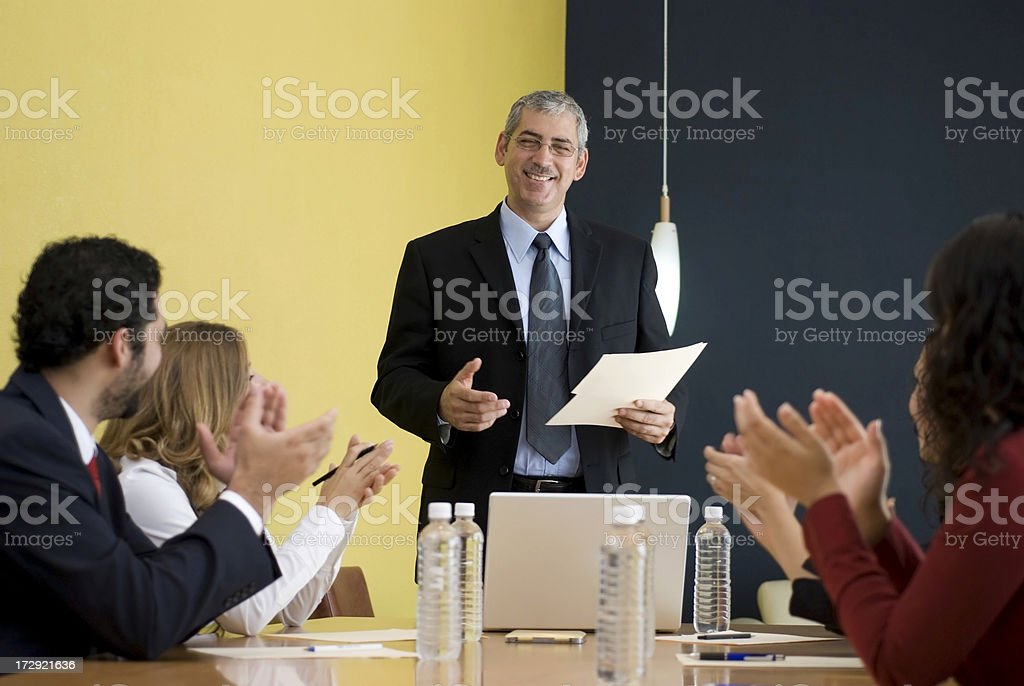 Leader given a presentation royalty-free stock photo