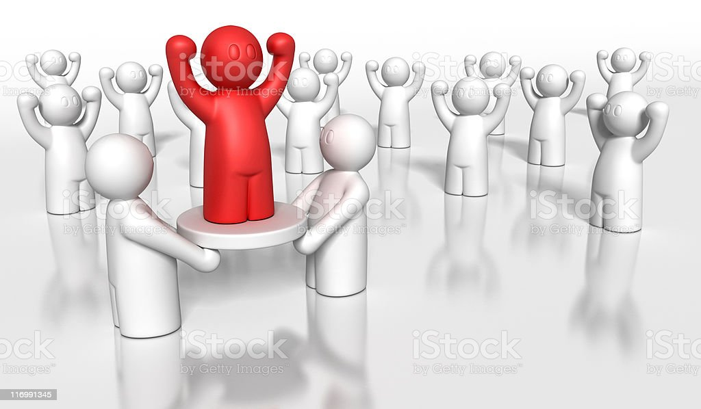 leader in crowd royalty-free stock vector art
