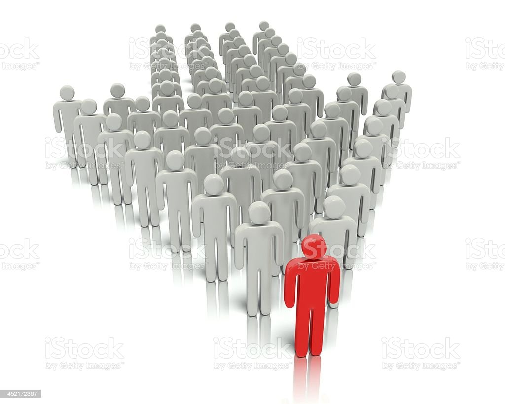 Leader in front of a group people. royalty-free stock photo