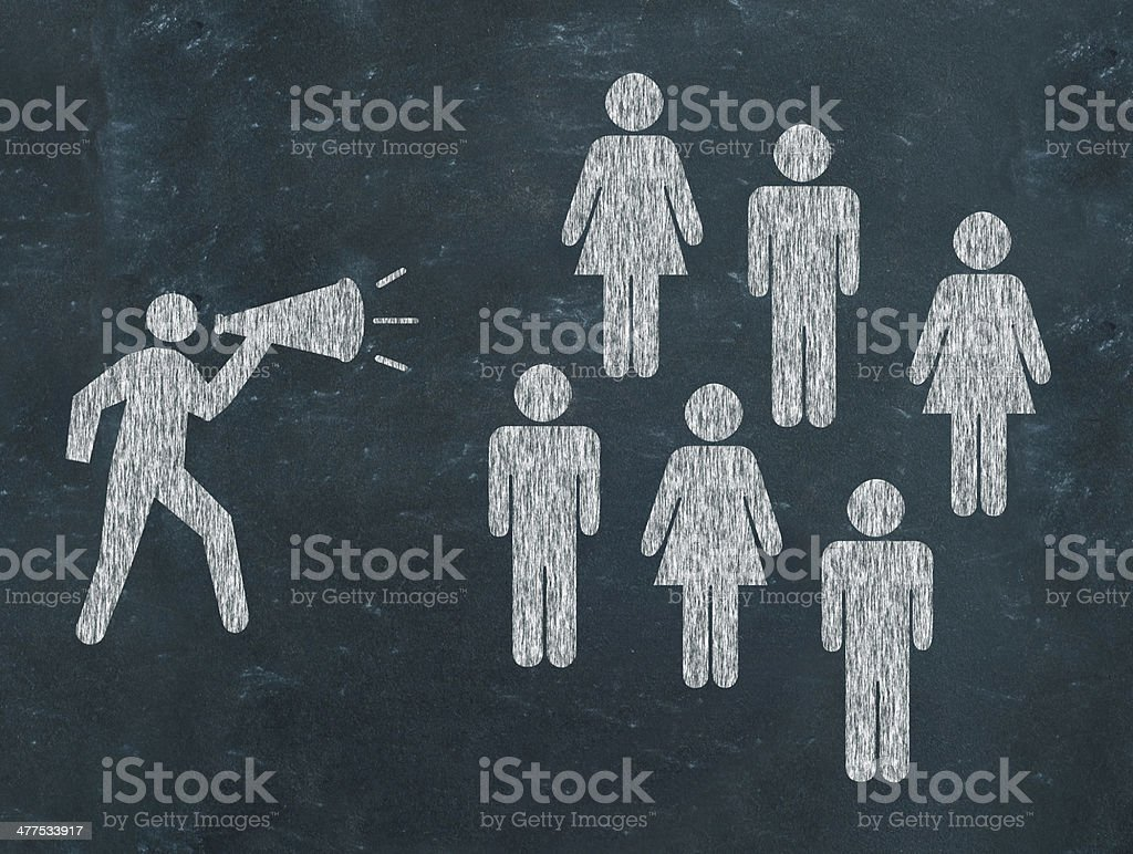 Leader making an announcement royalty-free stock photo