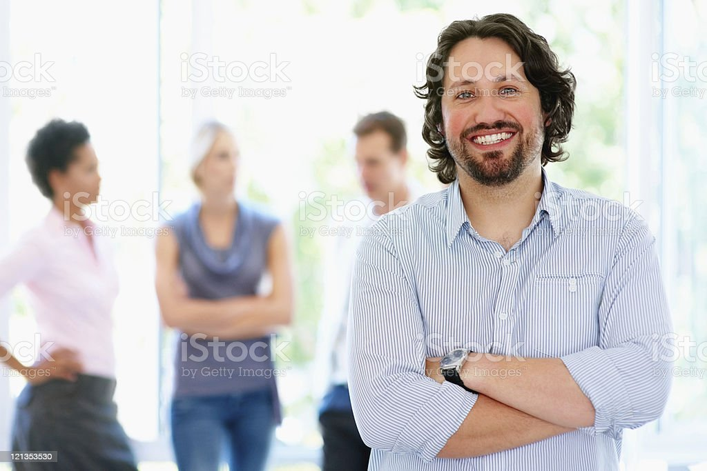 Leader of group stock photo