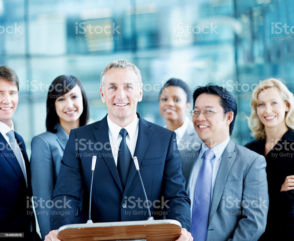 Leader of the conference royalty-free stock photo