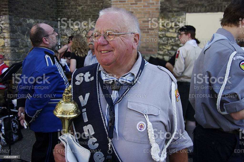 Leader of the scouts royalty-free stock photo