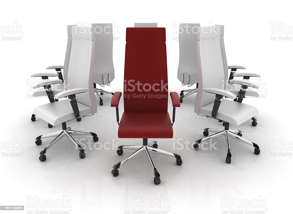 Leader Office chair royalty-free stock photo