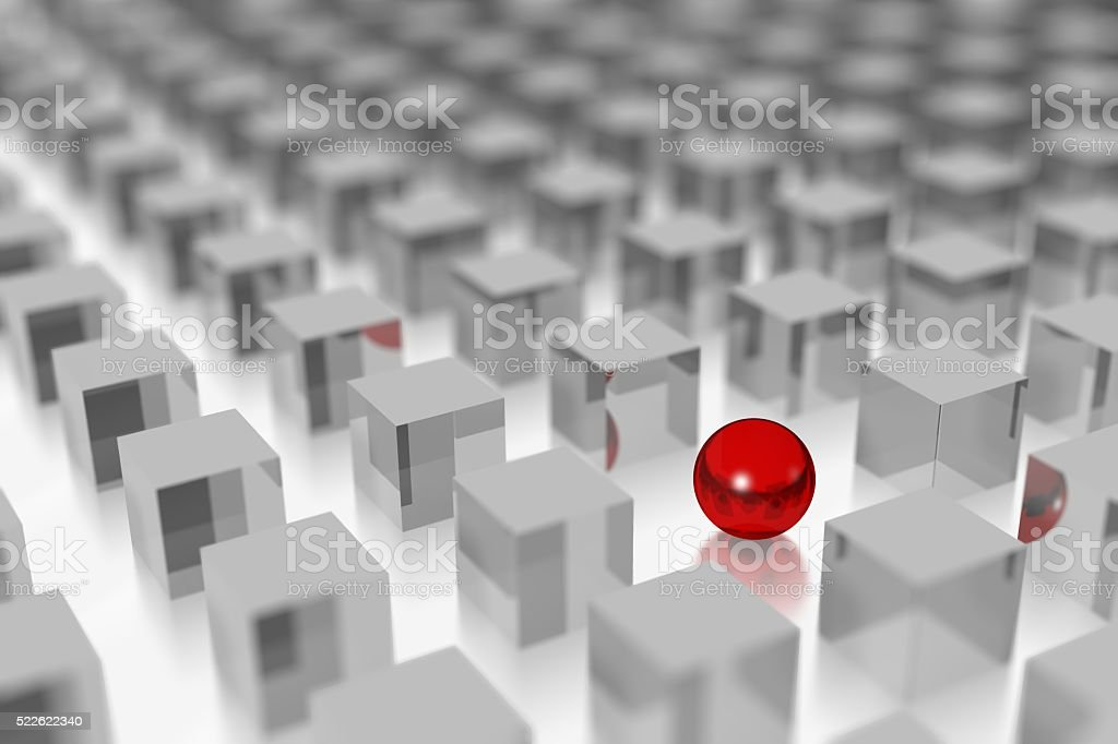 3D leader/ outstanding concept stock photo