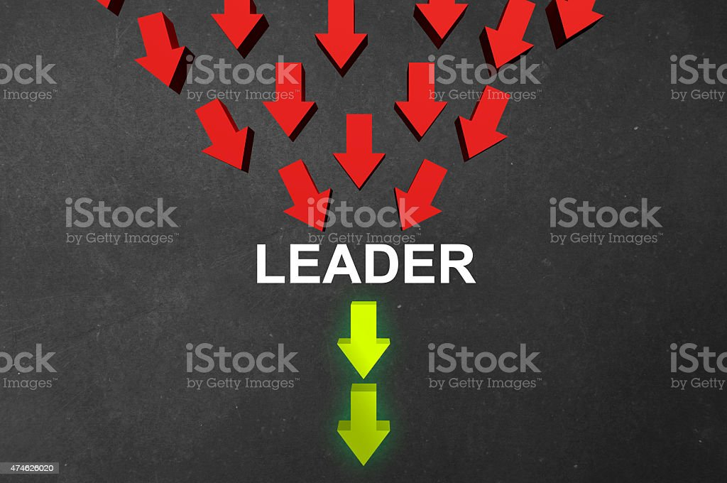 Leader stock photo