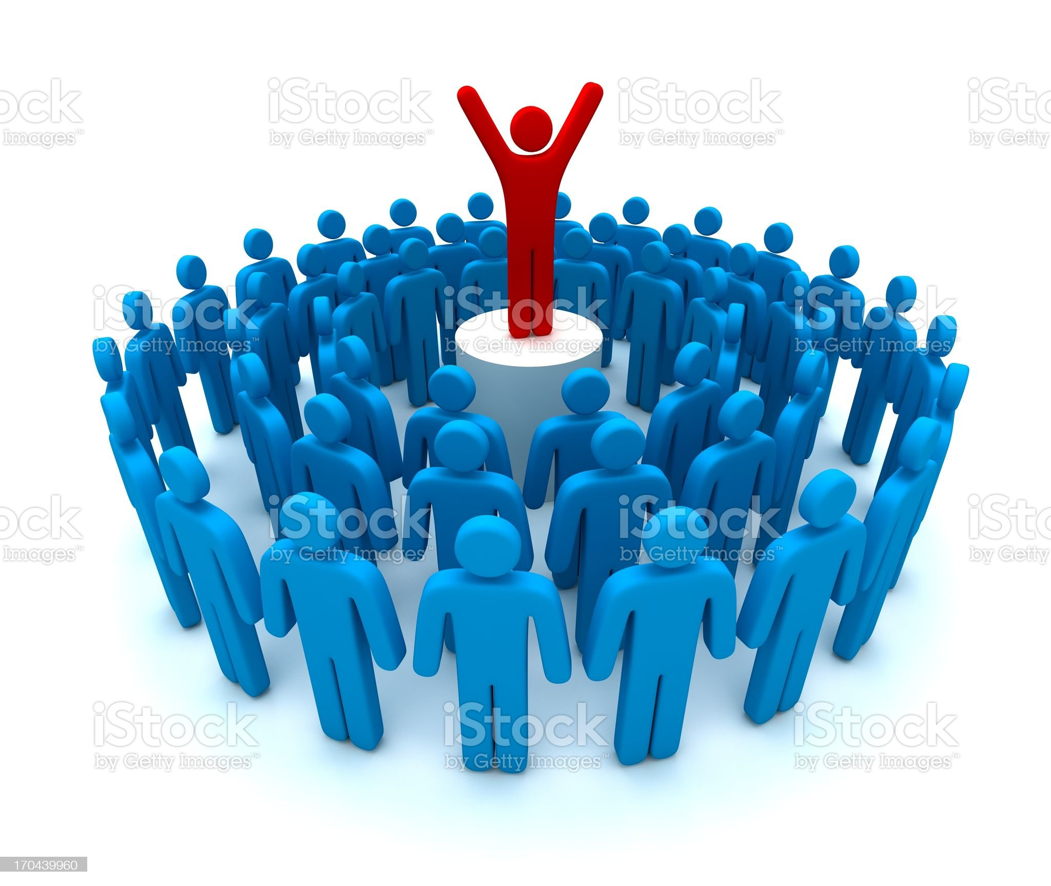 Leader Standing out from the Crowd royalty-free stock photo
