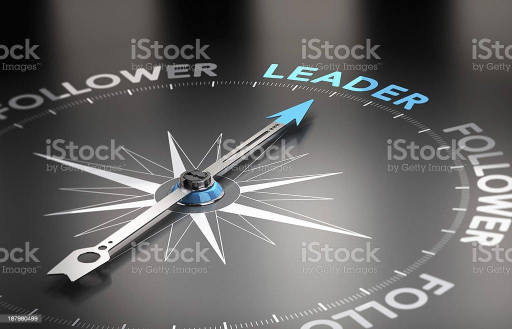 Leader vs follower concept stock photo