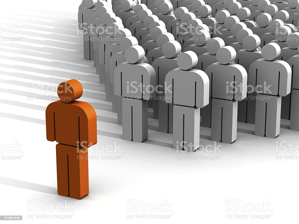 Leader with a great charisma (XXXL) royalty-free stock photo