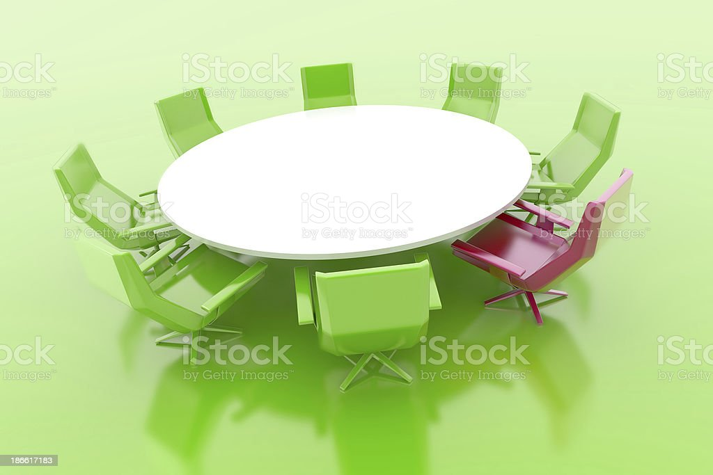 Leader's Chair royalty-free stock photo