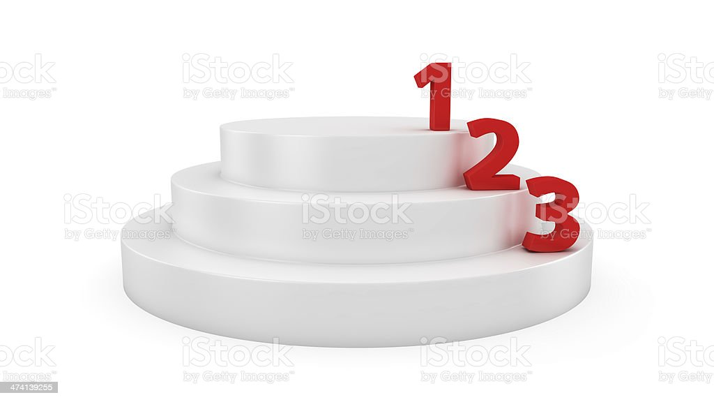 Leaders on the podium royalty-free stock photo