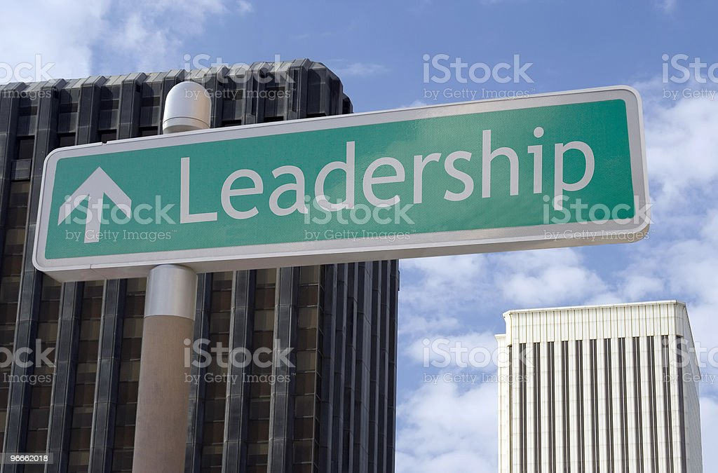 Leadership Ahead royalty-free stock photo