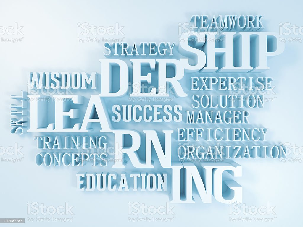 leadership and learning stock photo