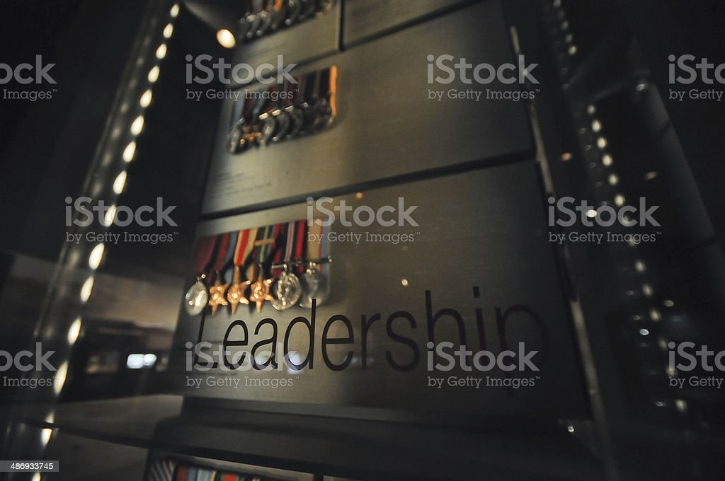 Leadership and medals of honour stock photo