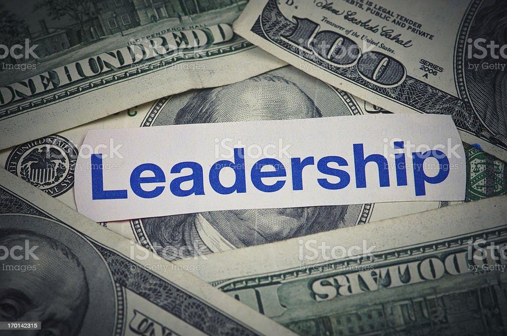 Leadership and Money stock photo
