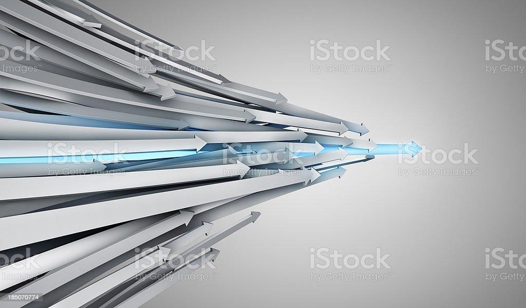 Leadership Arrow royalty-free stock photo