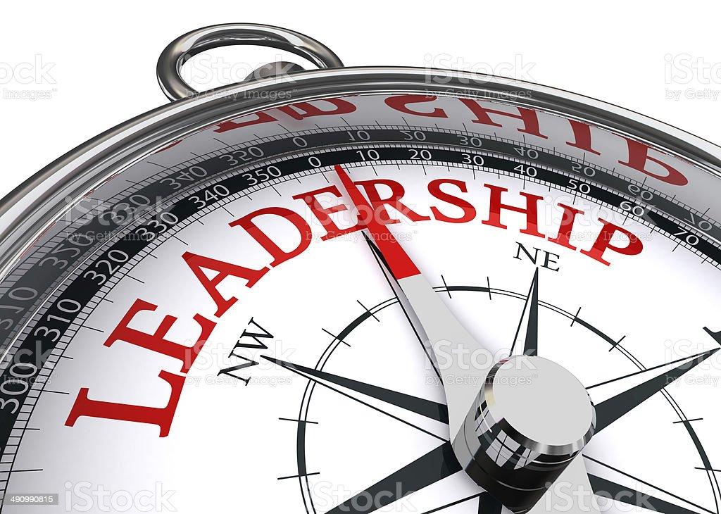 leadership conceptual compass stock photo