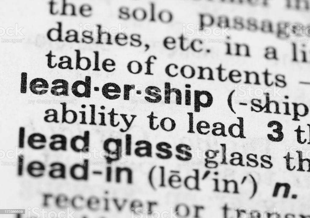 Leadership Definition royalty-free stock photo
