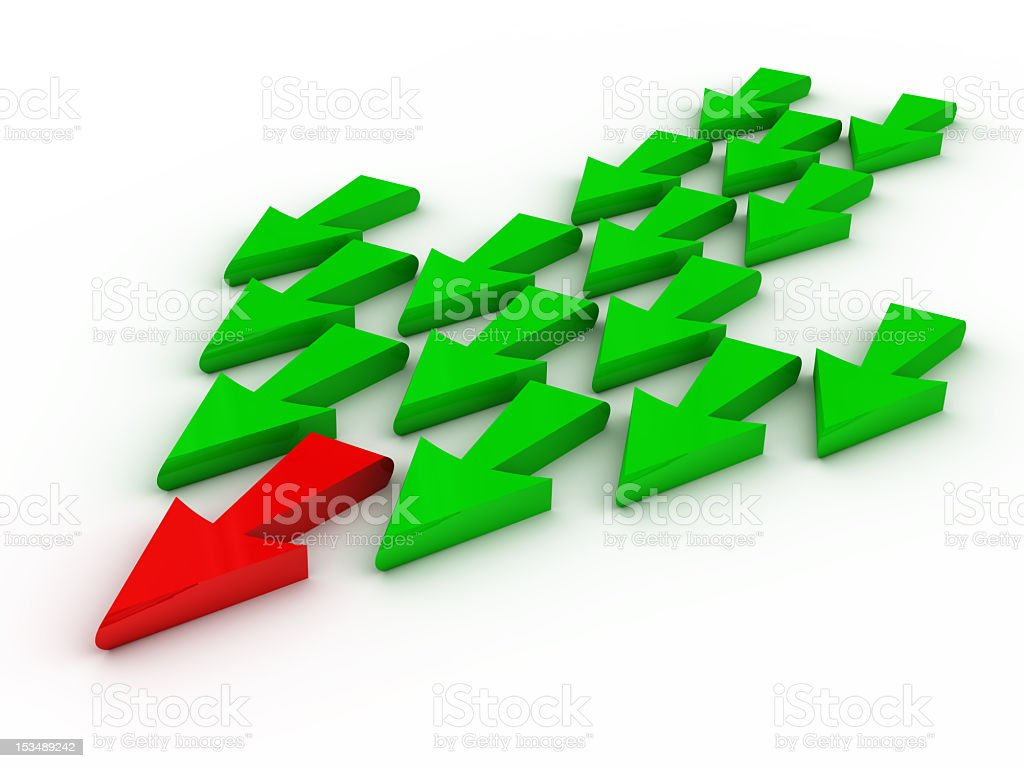 Leadership in the form of arrows royalty-free stock photo