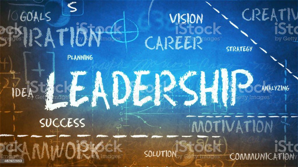 Leadership on a chalkboard royalty-free stock photo