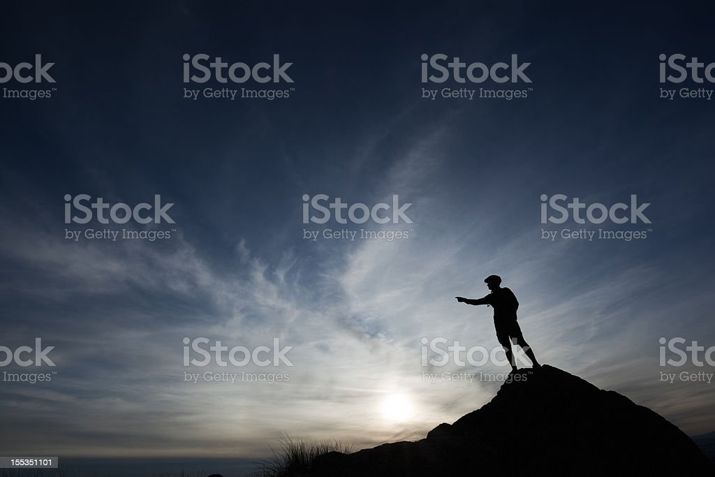 leadership silhouette man royalty-free stock photo