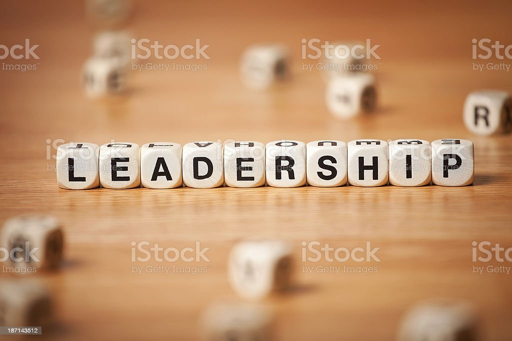 Leadership Spelled In Letter Cubes royalty-free stock photo