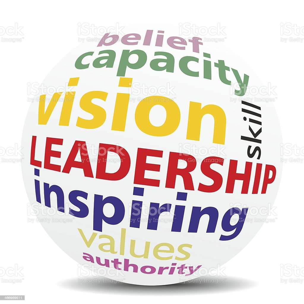 Leadership tagcloud sphere stock photo