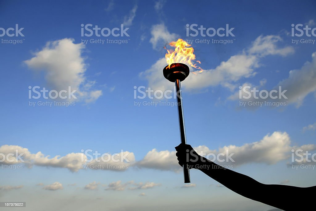 leadership torch stock photo
