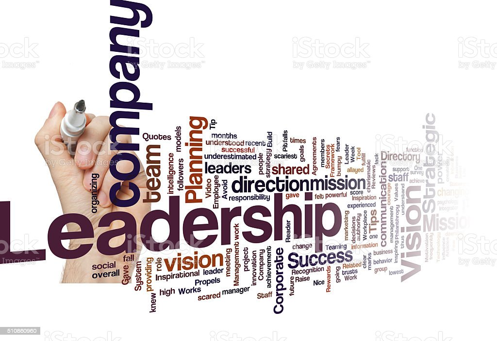 Leadership vision mission strategy concept background stock photo