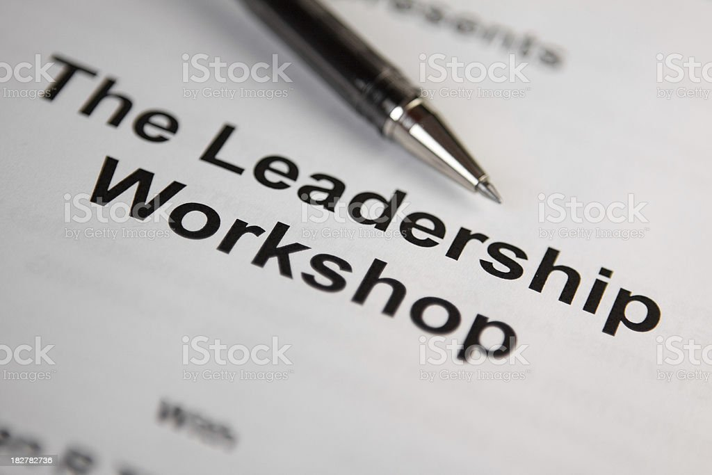 Leadership Workshop Training Manual royalty-free stock photo