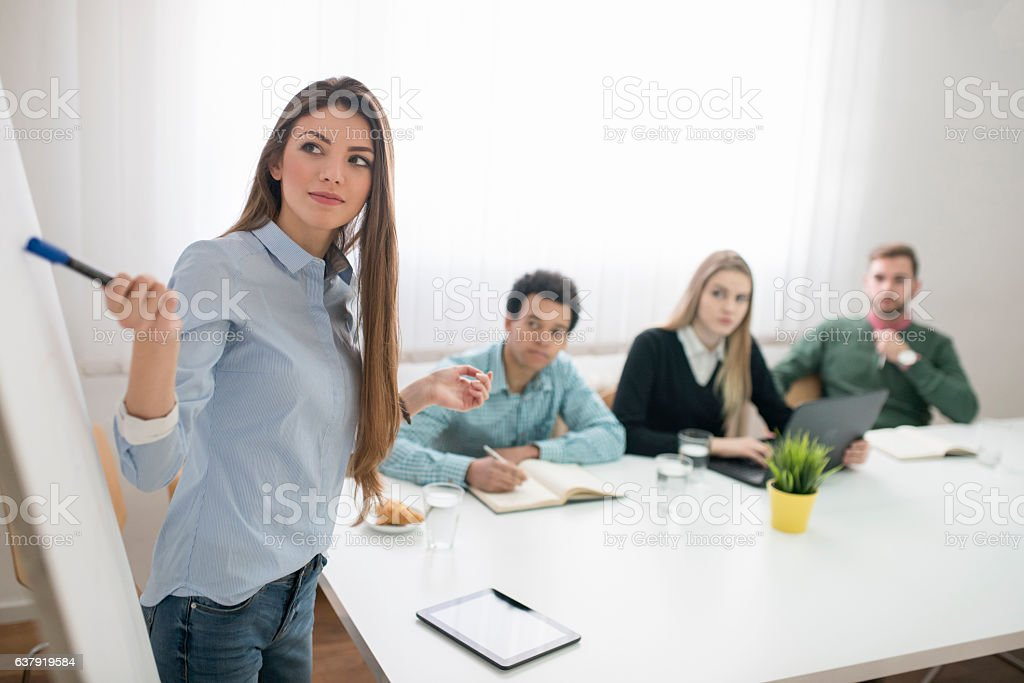 Leading A Project stock photo