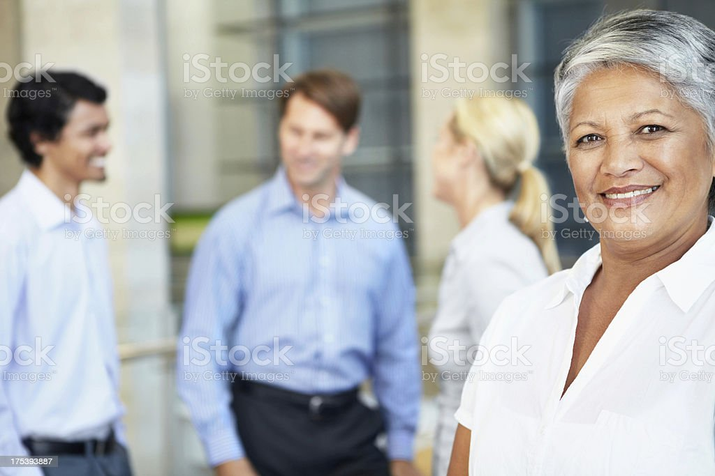 Leading a team to success royalty-free stock photo