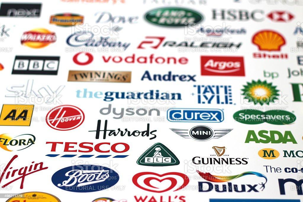 UK leading company Brand logos stock photo