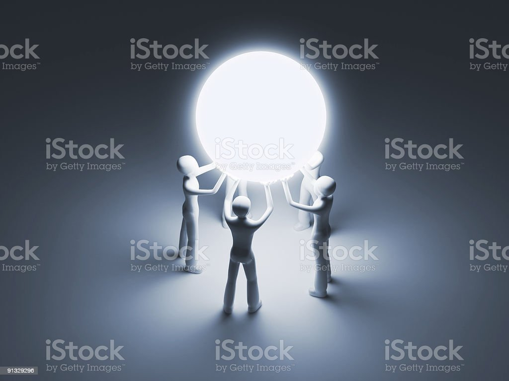 Leading Group royalty-free stock photo