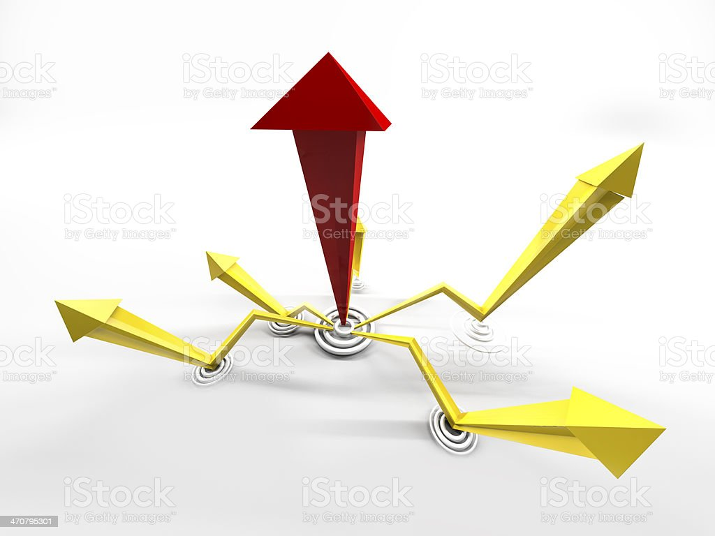 leading growth arrows stock photo