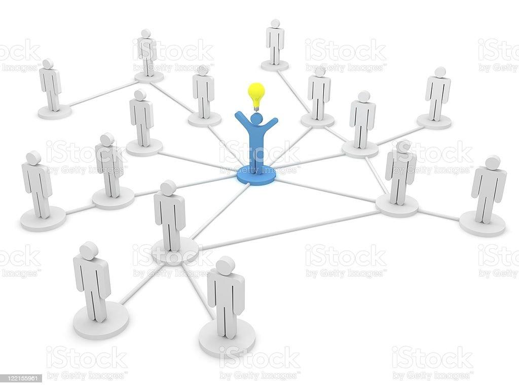 Leading Idea royalty-free stock photo