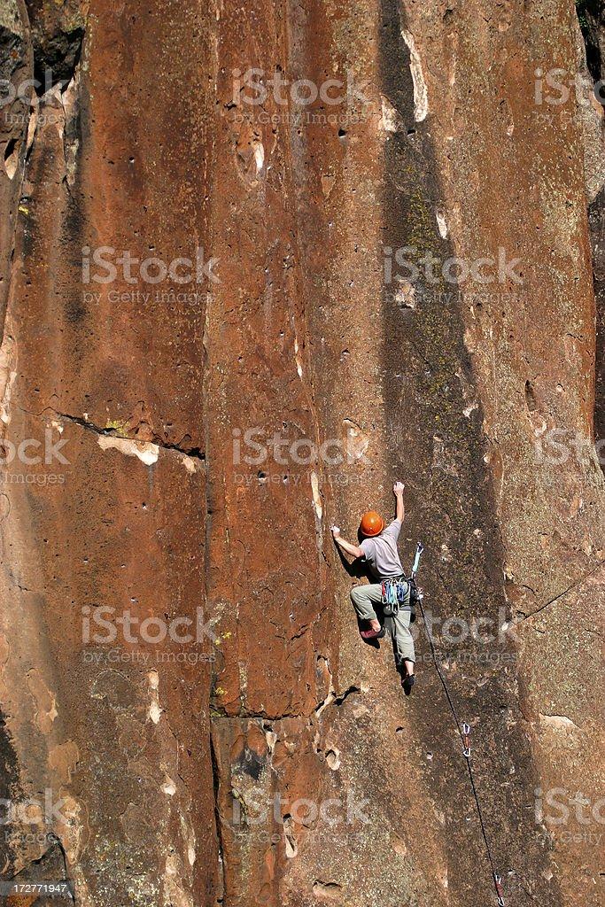 Leading; Penitente Canyon, CO royalty-free stock photo