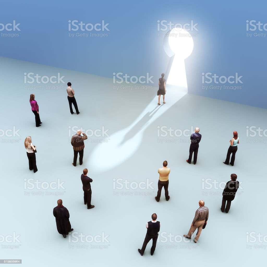 Leading the pack, key to success concept. stock photo
