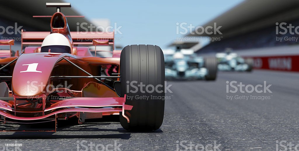 Leading the Race royalty-free stock photo