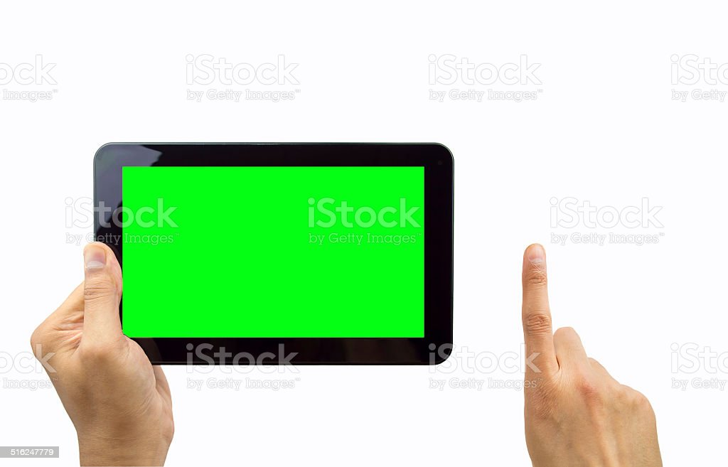 leading the tablet revolution stock photo