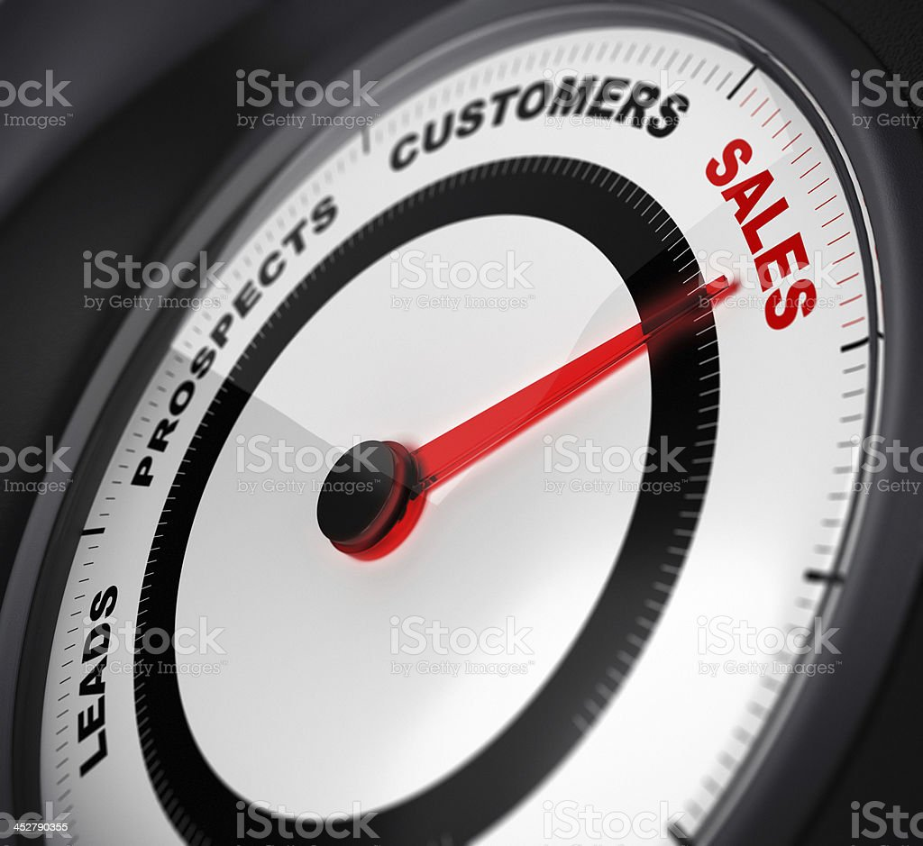 Leads to Sales Conversion stock photo