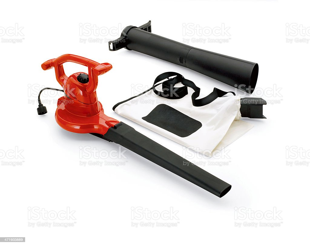 Leaf blower isolated stock photo