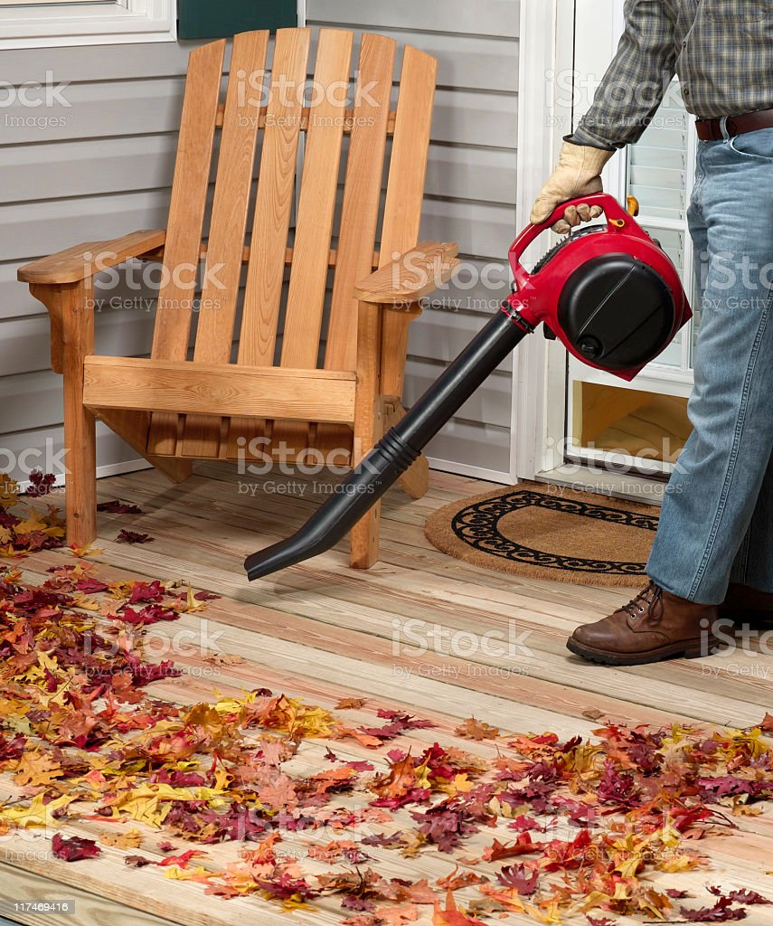 Leaf blower royalty-free stock photo