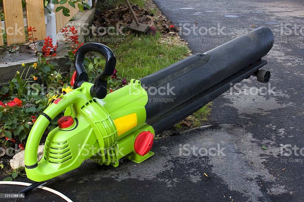 Leaf blower stock photo