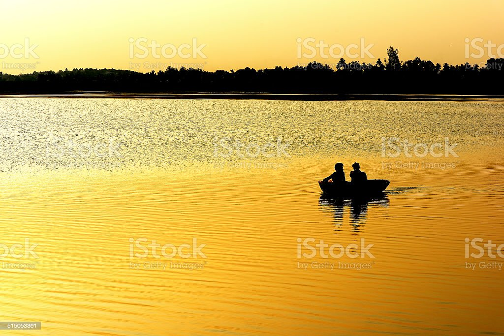 Leaf Boat royalty-free stock photo
