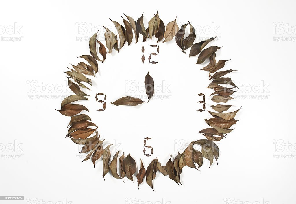 Leaf Clock stock photo