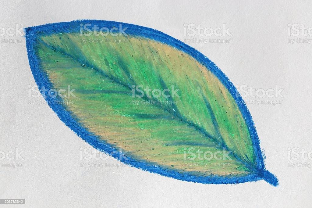 Leaf Draw stock photo