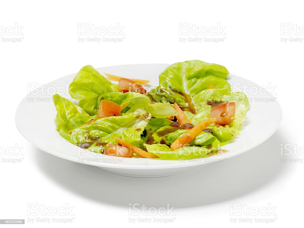 Leaf Lettuce Salad with Carrots royalty-free stock photo